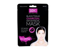 Maska za obraz Xpel Body Care Black Tissue Charcoal Detox Facial Mask 28 ml