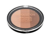 Puder v prahu Makeup Revolution London Ultra Bronze, Shimmer And Highlight 15 g
