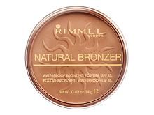 Bronzer Rimmel London Natural Bronzer SPF15 14 g 021 Sun Light