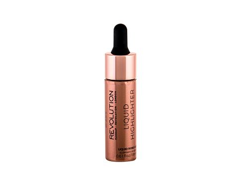 Osvetljevalec Makeup Revolution London Liquid Highlighter 18 ml Rose Gold