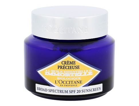 Dnevna krema za obraz L´Occitane Immortelle Precisious Cream SPF20 50 ml