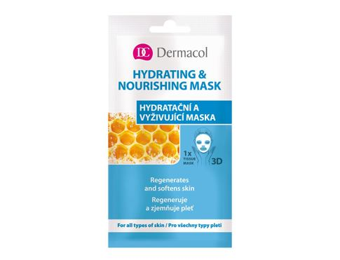 Maska za obraz Dermacol Hydrating & Nourishing Mask 15 ml