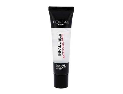 Podlaga za ličila L´Oréal Paris Infallible Mattifying Base 35 ml Transparent