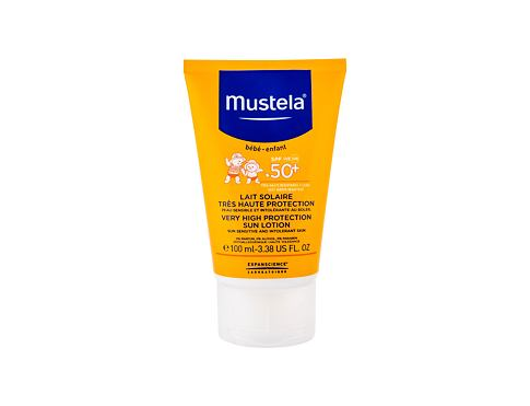 Zaščita pred soncem za telo Mustela Solaires Very High Protection Sun Lotion SPF50 100 ml