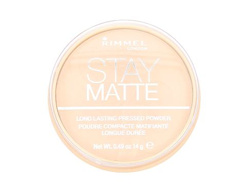 Puder v prahu Rimmel London Stay Matte 14 g 001 Transparent