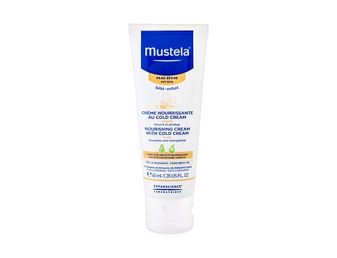 Dnevna krema za obraz Mustela Bébé Nourishing Cream With Cold Cream 40 ml