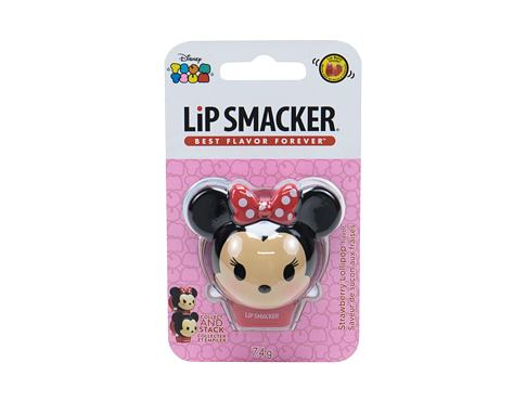 Balzam za ustnice Lip Smacker Disney Minnie Mouse 7,4 g Strawberry Lollipop poškodovana embalaža